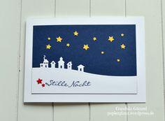 Weihnachtskarte mit gelben Sternen