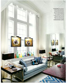 how fun is this abode?    Bright.Bazaar: Elle Decoration, April 2011