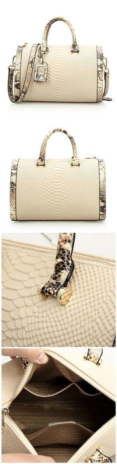 Genuine Leather Women's Handbags Casual Tote Crossbody bags Solid Zipper Versatile Single Bagail.com