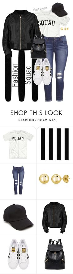 """SQUAD"" by sayitwearit on Polyvore featuring BERRICLE, rag & bone, Boohoo and adidas Originals"