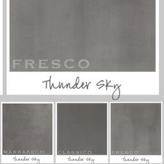 Thunder Sky 3 ways  #pureoriginalpaint #classico #fresco #marrakech #paint #thundersky #colorways
