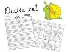 Dictées CE1 pour l'année + liste des mots à apprendre+ méthode et planning pour les dictées.