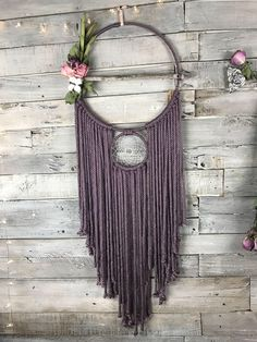 A personal favorite from my Etsy shop https://www.etsy.com/listing/562980374/purple-dreamcatcher-i-floral