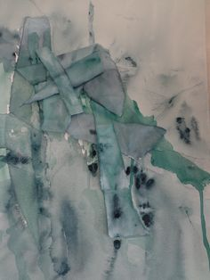 Arctic I, watercolour and collage