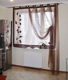Sheer blind and curtains #windowtreatments #curtains.