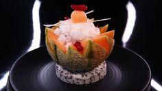 Fruits frais, granité au muscat de Beaumes-de-Venise, sorbet melon par Christophe Michalak