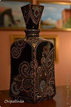 Декор предметов Роспись Кусочки Индии Бутылки стеклянные Краска фото 1