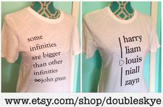 ONE DIRECTION AND TFIOS SHIRTS AVAILABLE FOR PURCHASE To buy these One Direction and The Fault In Our Stars TShirts or check out my shop go on www.etsy.com/shop/doubleskye or check out my instagram doubleskyedesigns