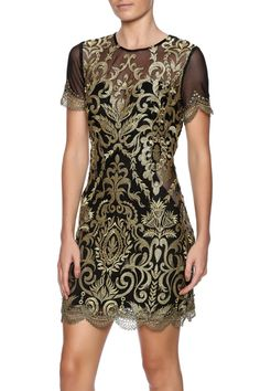 c58bc9ba06 Embroidered Sheer Dress from Naples by Bio New York — Shoptiques Sheer