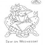 Little Girl Days of the Week Embroidery Pattern