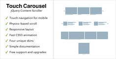 TouchCarousel - jQuery Content Scroller and Slider - CodeCanyon Item for Sale
