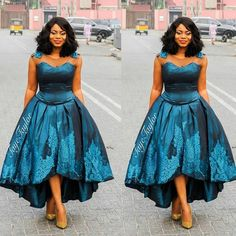 From party dresses to cocktail fashion statements, these wedding guests are dishing out some classy wedding styles inspiration that will make you swoon. With every wedding and every new trend,… African Prom Dresses, Latest African Fashion Dresses, African Dresses For Women, African Attire, African Wear, African Inspired Fashion, African Print Fashion, Africa Fashion, Chitenge Dresses