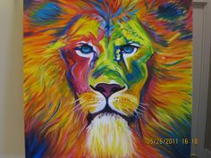 Lion Painting...would look cool in office!!