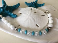 Calm Down your Overactive Mind and Reduce your Stress with this Beautiful Semi Precious Howlite White Lava Adjustable Bracelet! Handmade Bracelets, Handcrafted Jewelry, Unique Jewelry, True Gift, Lava Bracelet, Sparkly Jewelry, Jewelry Making, Jewelry Box, Jewelry Bracelets