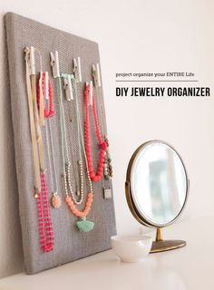 DIY Jewelry Storage - DIY Jewelry Organization Board - Do It Yourself Crafts and Projects for Organizing, Storing and Displaying Jewelry - Earrings, Rings, Necklaces - Jewelry Tree, Boxes, Hangers - Cheap and Easy Ways To Organize Jewelry in Bedroom and Bathroom - Dollar Store Crafts and Cheap Ideas for Decorating http://diyprojectsforteens.com/diy-jewelry-storage