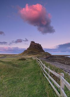Sunset at Lindisfarne, Northumberland, England by Kristofer Williams