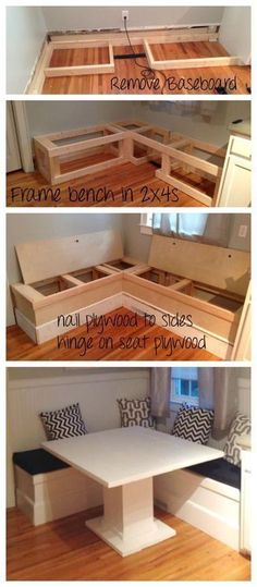 Ana White DIY Breakfast Nook with Storage DIY Projects diy_storage_table Living Room On A Budget, Small Living Rooms, Dining Room Ideas On A Budget, House Ideas On A Budget, Small Kitchen Ideas On A Budget, Diy On A Budget Home Decor, Modern Living, Cheap Diy Home Decor, Diy Decking On A Budget