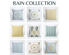 Rain Collection 26 x 26 pillow cover // pillow by Pillomatic