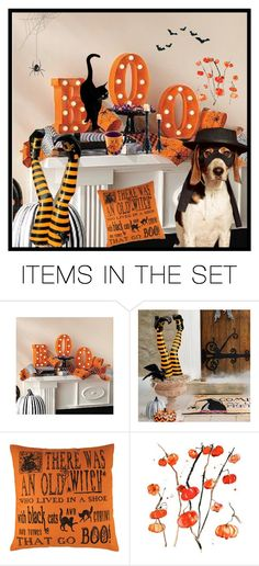 """""""My Halloween room"""" by elaine136 ❤ liked on Polyvore featuring art"""