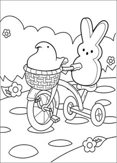 Free printable marshmallow Peeps coloring pages for kids. Color this online pictures and sheets and color a book of marshmallow peeps coloring sheets. Nick Jr Coloring Pages, Camping Coloring Pages, Creation Coloring Pages, Coloring Pages For Teenagers, Easter Coloring Pages, Coloring Sheets For Kids, Doodle Coloring, Cool Coloring Pages, Printable Coloring Pages