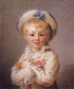 Oil Painting A Boy As Pierrot 1776-80 PaintingPainted originally by Jean Honore Fragonard
