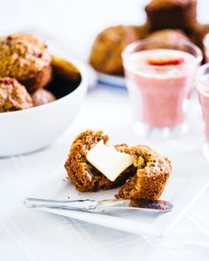 Strawberry Rhubarb Hazelnut Muffins