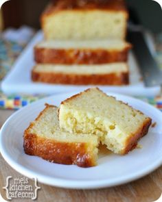 """""""Lemon Yogurt Bread - we tried this recipe made into muffins for dinner tonight. I threw in some poppy seeds just for fun and it was delicious!"""" -my mommy :) No Bake Desserts, Just Desserts, Delicious Desserts, Dessert Recipes, Yummy Food, Yogurt Bread, Lemon Bread, Yogurt Cake, Lemon Loaf"""