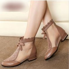 Yidikanuo spring and autumn 2016 new hollow cool boots leather mesh shoes in wom. Yidikanuo spring and autumn 2016 new hollow cool boots leather mesh shoes in women's shoes with ankle boots women fashion boots - ezbuy. Pretty Shoes, Beautiful Shoes, Cute Shoes, Women's Shoes, Dance Shoes, Mocassins, Shoes With Jeans, Cool Boots, Fashion Boots