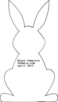Easter bunny pattern printable is not my forte cut bunnies out using template or your own shape Easter Bunny Template, Bunny Templates, Bunny Ears Template, Face Template, Shape Templates, Printable Templates, Bunny Crafts, Easter Crafts, Easter Decor