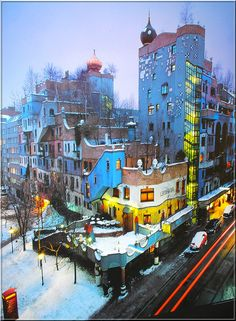 Painting from Friedensreich Hundertwasser by Uhlenhorst - sorry, very busy !!!, via Flickr