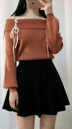 Edgy Outfits, Teen Fashion Outfits, Mode Outfits, Cute Casual Outfits, Cute Fashion, Skirt Fashion, Pretty Outfits, Fashion Ideas, Korean Skirt Outfits