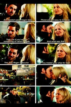 You gave up your ship for me? Aye.  Once upon A Time hook/Emma OTP
