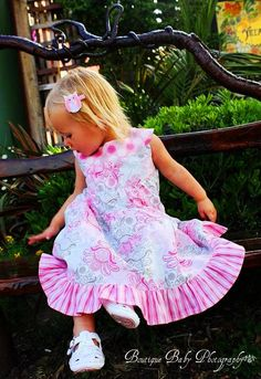 The Gabriella Dress in Pink & White  Nezzy's by NezzysBoutique, $41.00