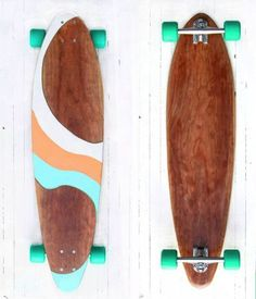 If I ever get a longboard, this will be it! Handcrafted Cherry Longboard 'ALOHA' by PNWmaker on Etsy Painted Skateboard, Skateboard Deck Art, Skateboard Design, Skateboard Girl, Penny Skateboard, Surfboard Art, Cool Outfits For Teens, Cool Longboards, Custom Longboards