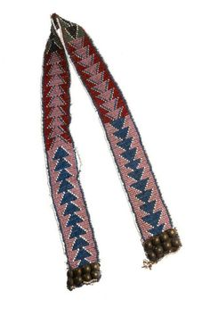 Africa   Sash from the Zulu/Xhosa people of South Africa   Glass beads, fiber and brass buttons    {This could possibly have been a belt}