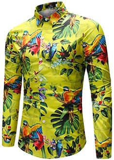 Ericdress Mens Bird Leaf Printed Slim Fit Shirts Fashion girls, party dresses long dress for short Women, casual summer outfit ideas, party dresses Fashion Trends, Latest Fashion # Cool Shirts For Men, Cheap Shirts, Men's Shirts, T Shirt Sport, Mens Shirts Online, Dress For Short Women, Workout Shirts, Stylish Outfits, Printed Shirts