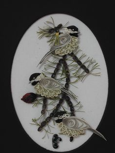 One of my father's many quilling that he was so good at.  Stay tuned for more pictures of his work.