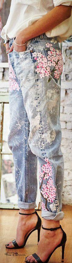 ~Rialto Cherry Blossoms Boyfriend Jeans | House of Beccaria# +
