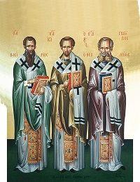 Εκπαιδευτικό υλικό για τους Τρεις Ιεράρχες Orthodox Icons, Ikon, Baseball Cards, Education, School, Winter, Nails, Parents, Byzantine