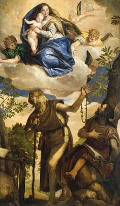 Paolo Caliari, called Veronese  Italian (1528–1588)  The Virgin and Child with Angels Appearing to Saints Anthony Abbot and Paul, the Hermit, 1562  Oil on canvas
