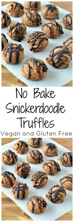 Put these No Bake Snickerdoodle Truffles on the must make list! Only a handful of simple ingredients and no cooking! Vegan, gluten free and paleo.
