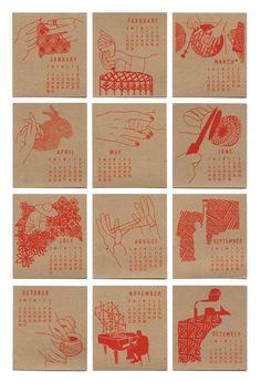 Hooray For Hands Desk Calendar by Curious Doodles