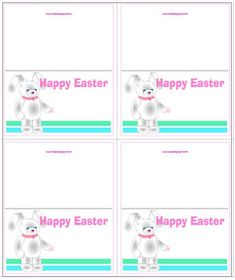 Easter bunny place cards name tags or gift tags crafty easter easter bunny mini card printable craft sheet to make gift tags place cards labels or name tags negle Image collections