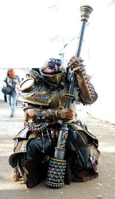 Steampunk-Style latex Larp gear and weapon  Alakhay Andrea Picardi — Italian Larper  http://www.facebook.com/alakhay