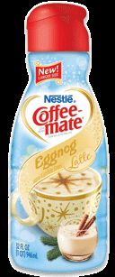 Eggnog Latte Liquid  What would the holidays be without the flavor of Eggnog? Invite over some guests and prepare a holiday flavored latte for everyone on your list. Available only September through December. This just sounds so good... need to get my hands on some soon