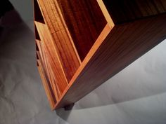 Solid Ribbon Cut Sapele Book Case