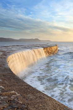 The Cobb, Lyme Regis, .Dorset, England. on which Meryl Streep stood in the film 'The French Lieutenant's woman'