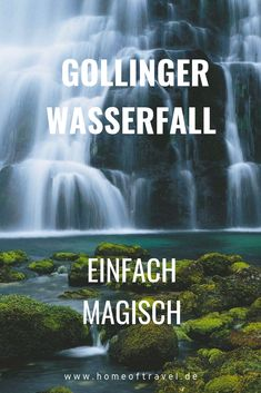 Hike to the Gollinger waterfall: simply magical - Huge amounts of water tumble down two rocky steps at the Golling waterfall all year round. A natura - I Want To Travel, Beautiful Places To Travel, Cool Places To Visit, Places To Go, Travel Through Europe, Travel Around The World, Tattoo Ohana, Travel Deals, Travel Destinations