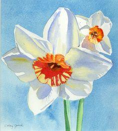 daffodil+watercolor+paintings | Daffodil Watercolor Painting