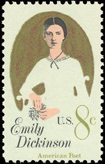 US 8c postage stamp from 1971 featuring the America Poet Emily Dickinson